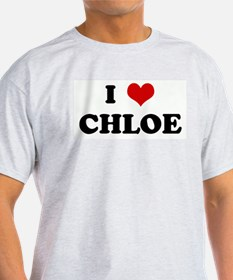 I Love CHLOE Ash Grey T-Shirt
