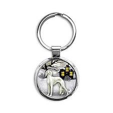 winterhouse saluki Round Keychain