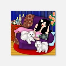 "ladyeski copy Square Sticker 3"" x 3"""