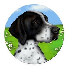 POINTER Round Car Magnet