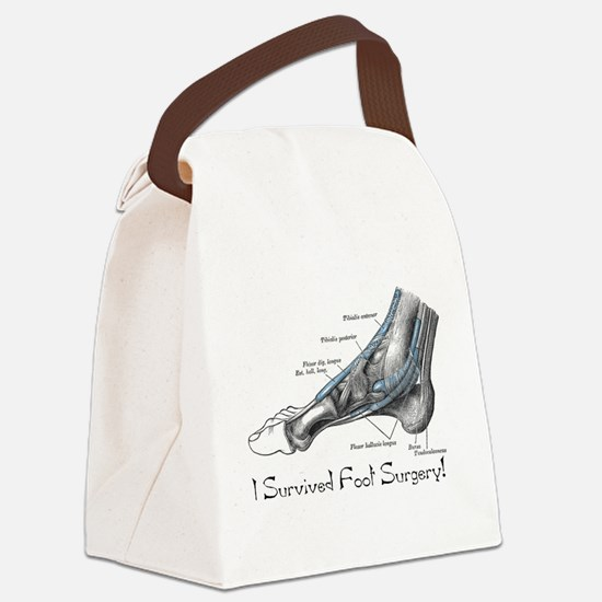 GrayFoot.png Canvas Lunch Bag
