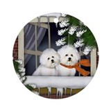 Bichons Round Ornaments
