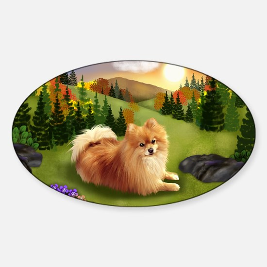 fall pom pr Sticker (Oval)
