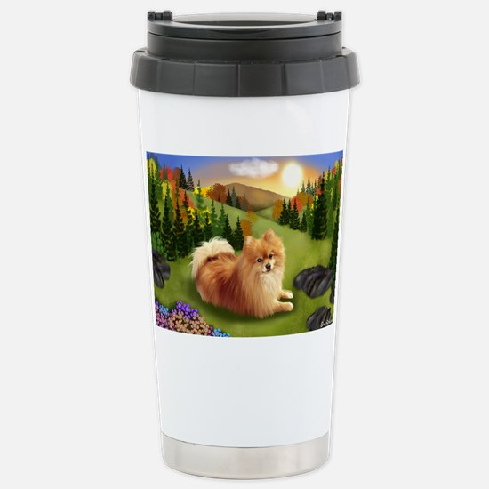 fall pom pr Stainless Steel Travel Mug