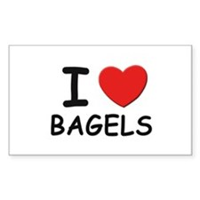 I love bagels Rectangle Decal