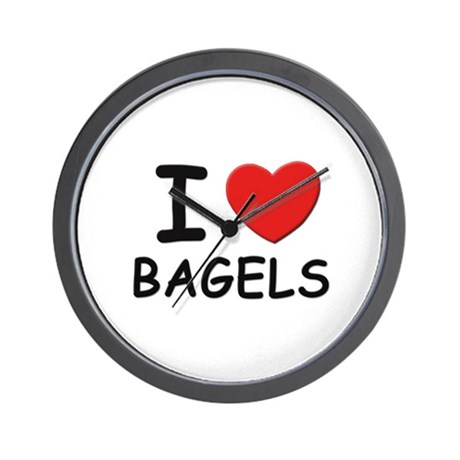 I love bagels Wall Clock
