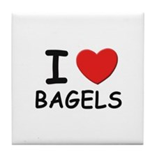 I love bagels Tile Coaster