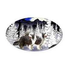 print 11 Oval Car Magnet