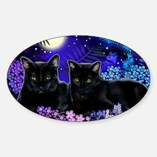 cats copy Sticker (Oval)
