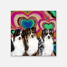 """love asd Square Sticker 3"""" x 3"""""""
