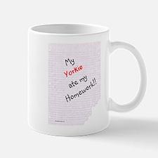 Yorkie Homework Mug