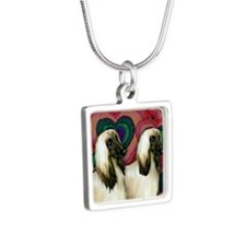 love AH Silver Square Necklace