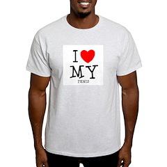 Love My Penis Ash Grey T-Shirt