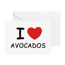 I love avocados Greeting Cards (Pk of 10)