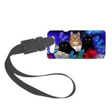 print cats Luggage Tag