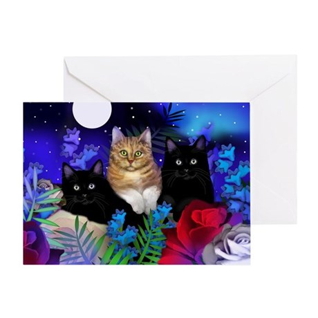 print cats Greeting Card