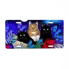 print cats Aluminum License Plate