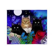 print cats Throw Blanket