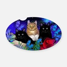 print cats Oval Car Magnet