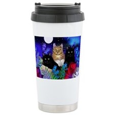 print cats Travel Mug