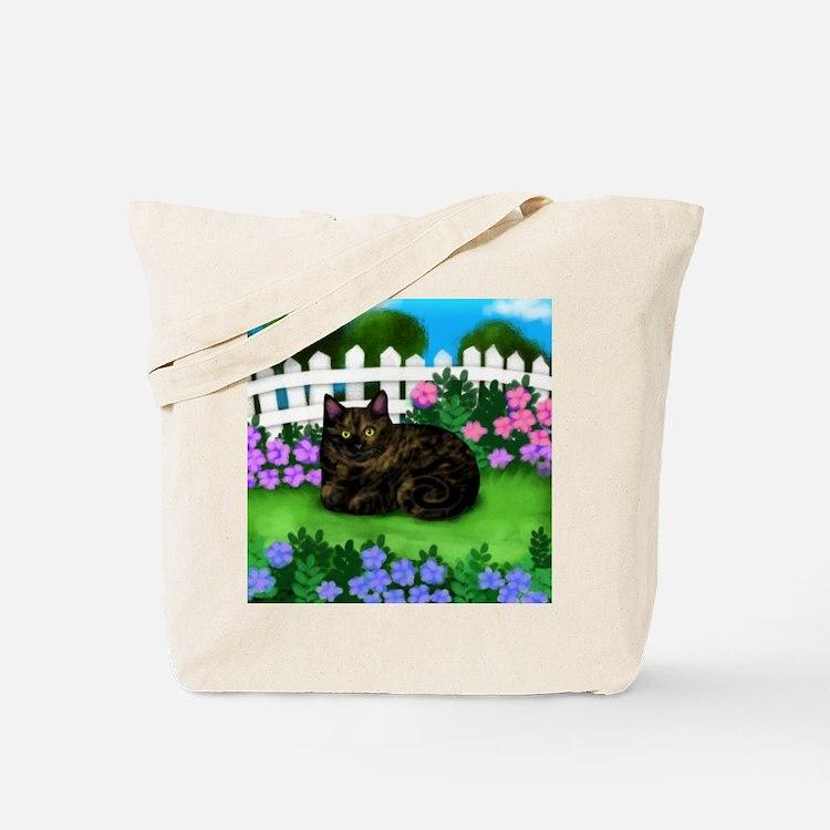 TORTOISESHELL CAT garden Tote Bag