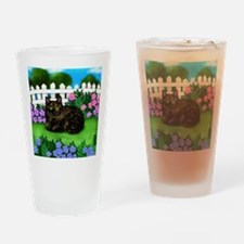 TORTOISESHELL CAT garden Drinking Glass