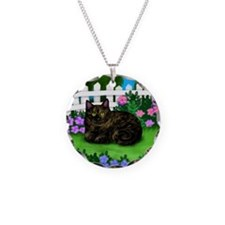 TORTOISESHELL CAT garden Necklace