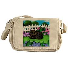 TORTOISESHELL CAT garden Messenger Bag