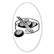 Chinese dim sum design Oval Decal