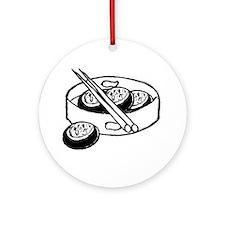 Chinese dim sum design Ornament (Round)