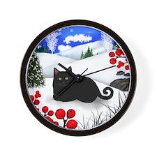 wb bcat Wall Clock