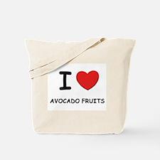 I love avocado fruits Tote Bag