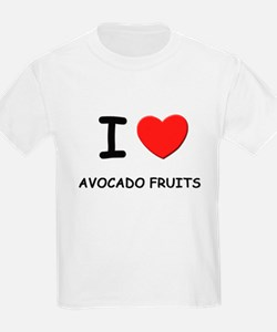 I love avocado fruits Kids T-Shirt
