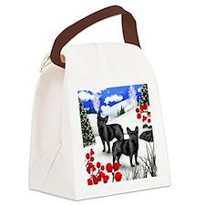 WB FB Canvas Lunch Bag