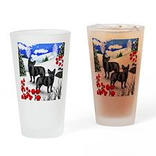 WB FB Drinking Glass