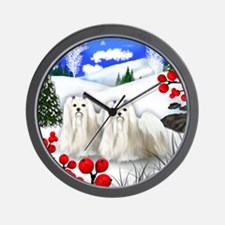 wb maltese Wall Clock