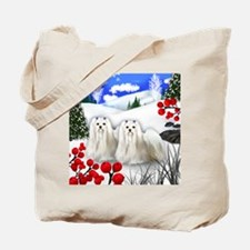 wb maltese Tote Bag
