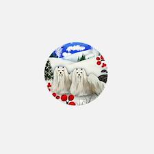 wb maltese Mini Button