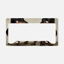 2-dachshunds copy License Plate Holder