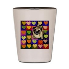 pughearts copy Shot Glass
