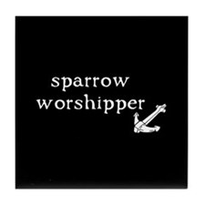 Sparrow Worshipper Tile Coaster