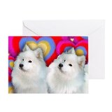 Samoyed valentines Greeting Cards