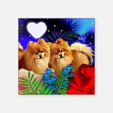 "pom ln Square Sticker 3"" x 3"""