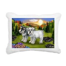 fall chnauzer Rectangular Canvas Pillow