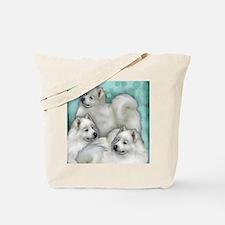 samoyed dogs Tote Bag