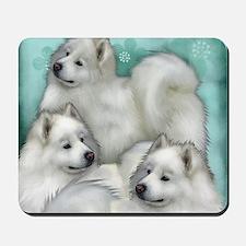 samoyed dogs Mousepad