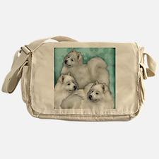 samoyed dogs Messenger Bag
