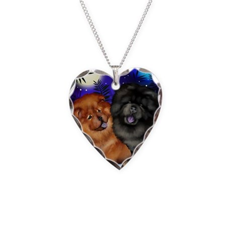 rb chow Necklace Heart Charm
