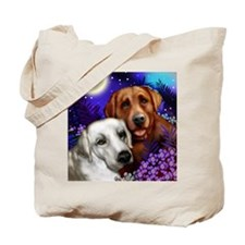 White and Red Labrador Retriever Tote Bag