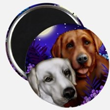 White and Red Labrador Retriever Magnet